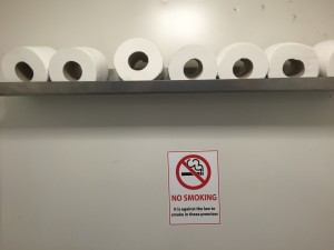 "Storage Shelf for Toilet Rolls ""Dont get caught out"""